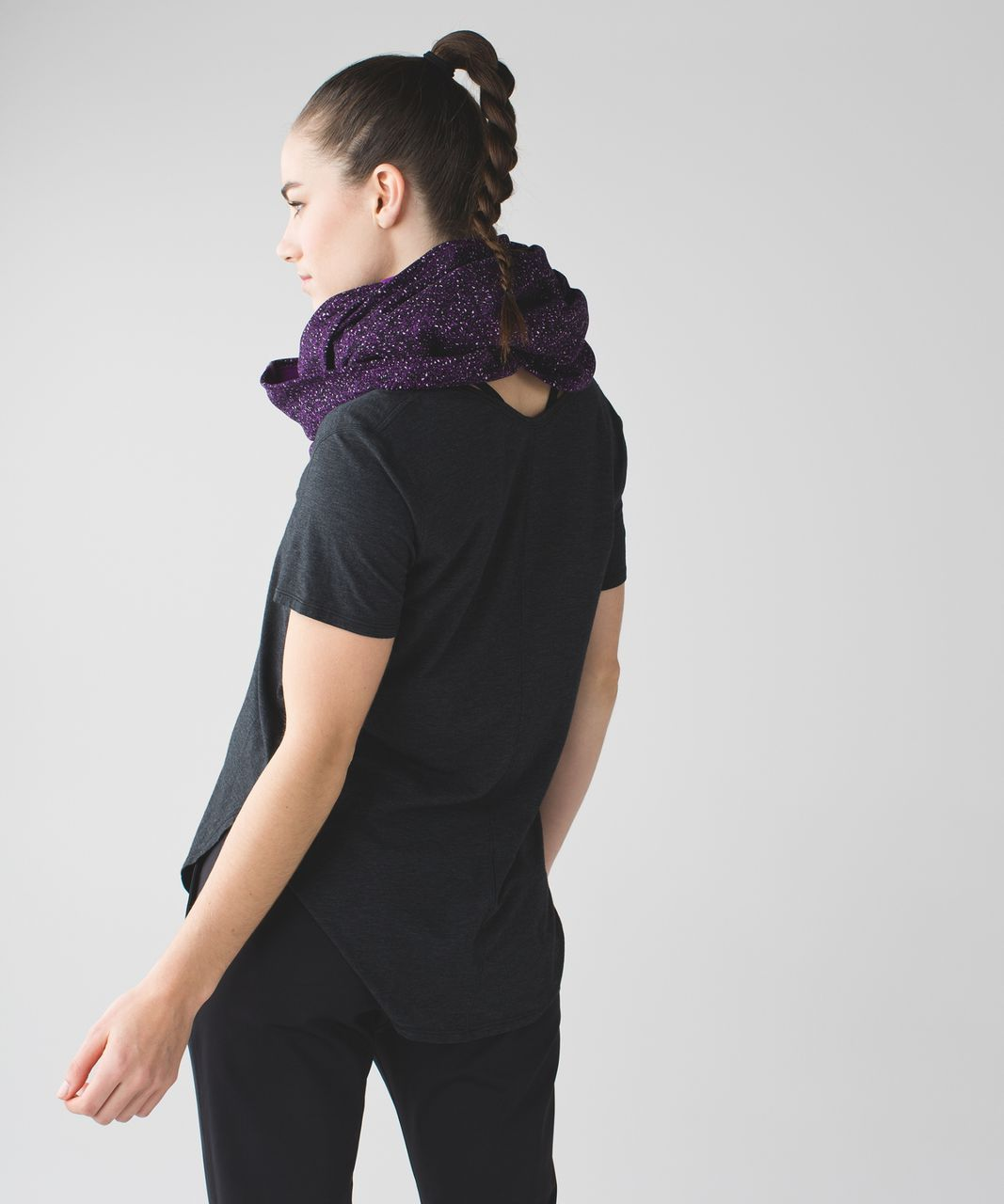 Lululemon Vinyasa Scarf *Fleece - Flashback Static Powdered Rose Tender Violet / Tender Violet
