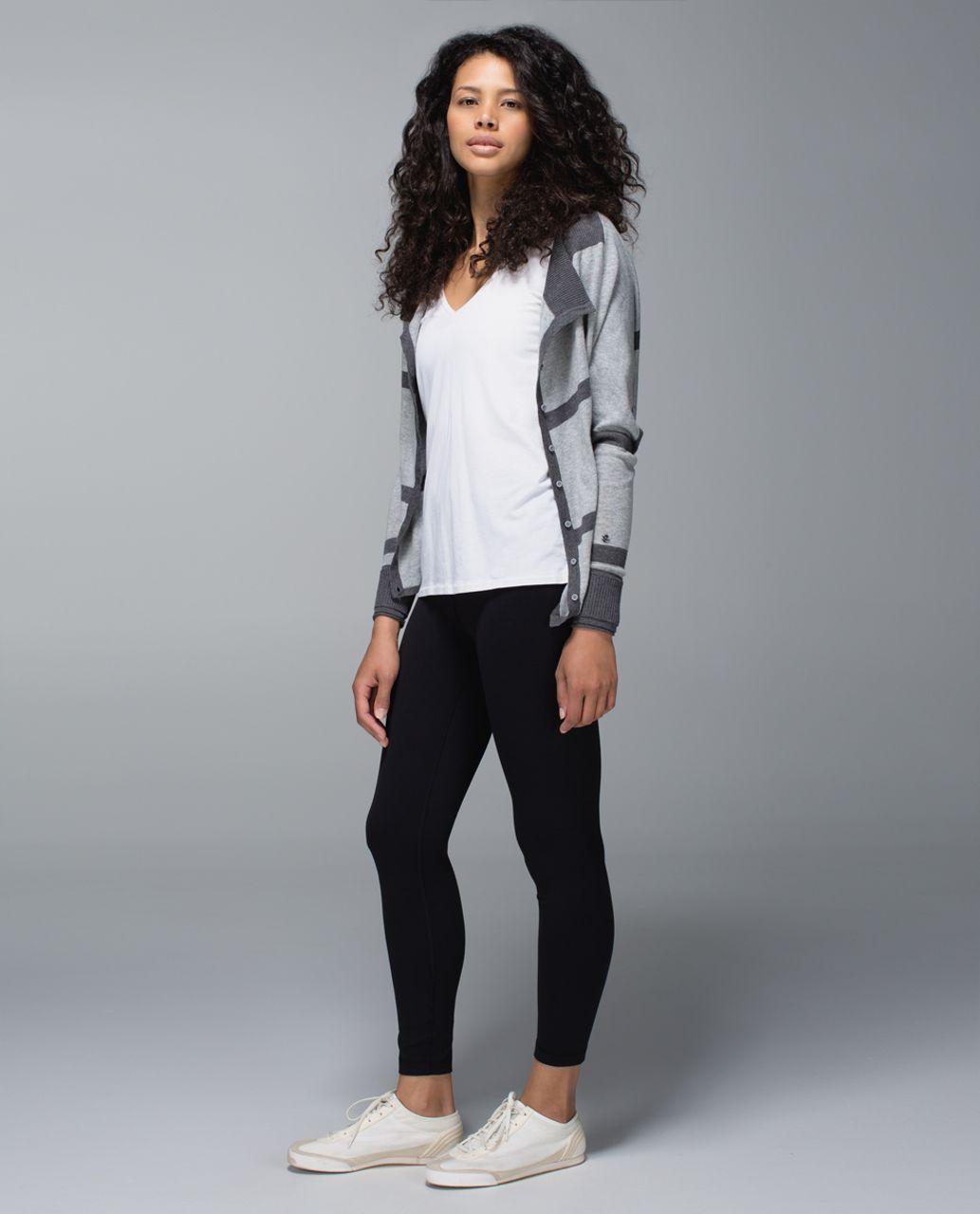 Lululemon After Class Cardigan - Heathered Medium Grey / Heathered Dark Grey / Heathered Dark Grey