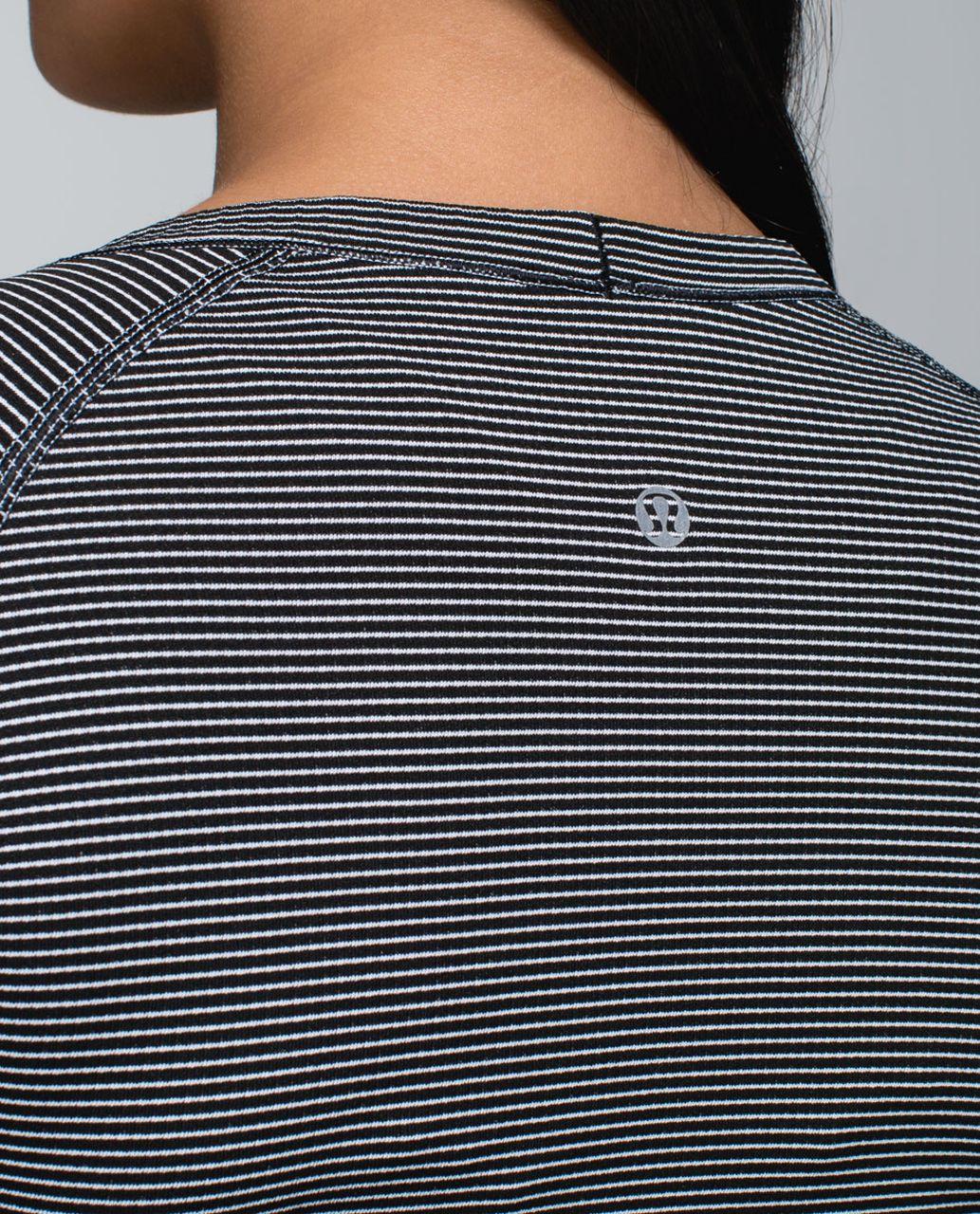 Lululemon Run:  Swiftly Tech Long Sleeve Scoop - Hyper Stripe Black