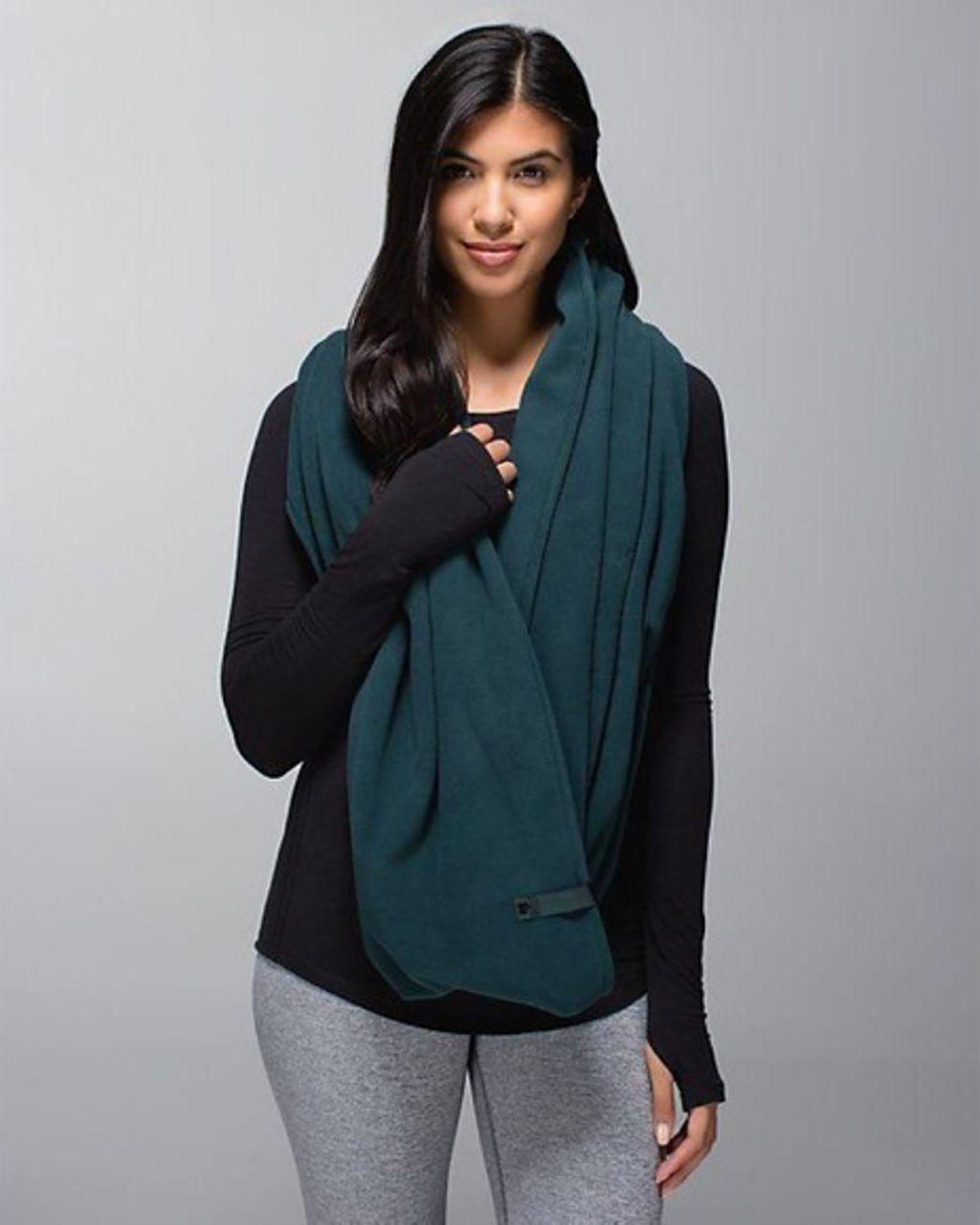 lululemon vinyasa scarf fuel green lulu fanatics