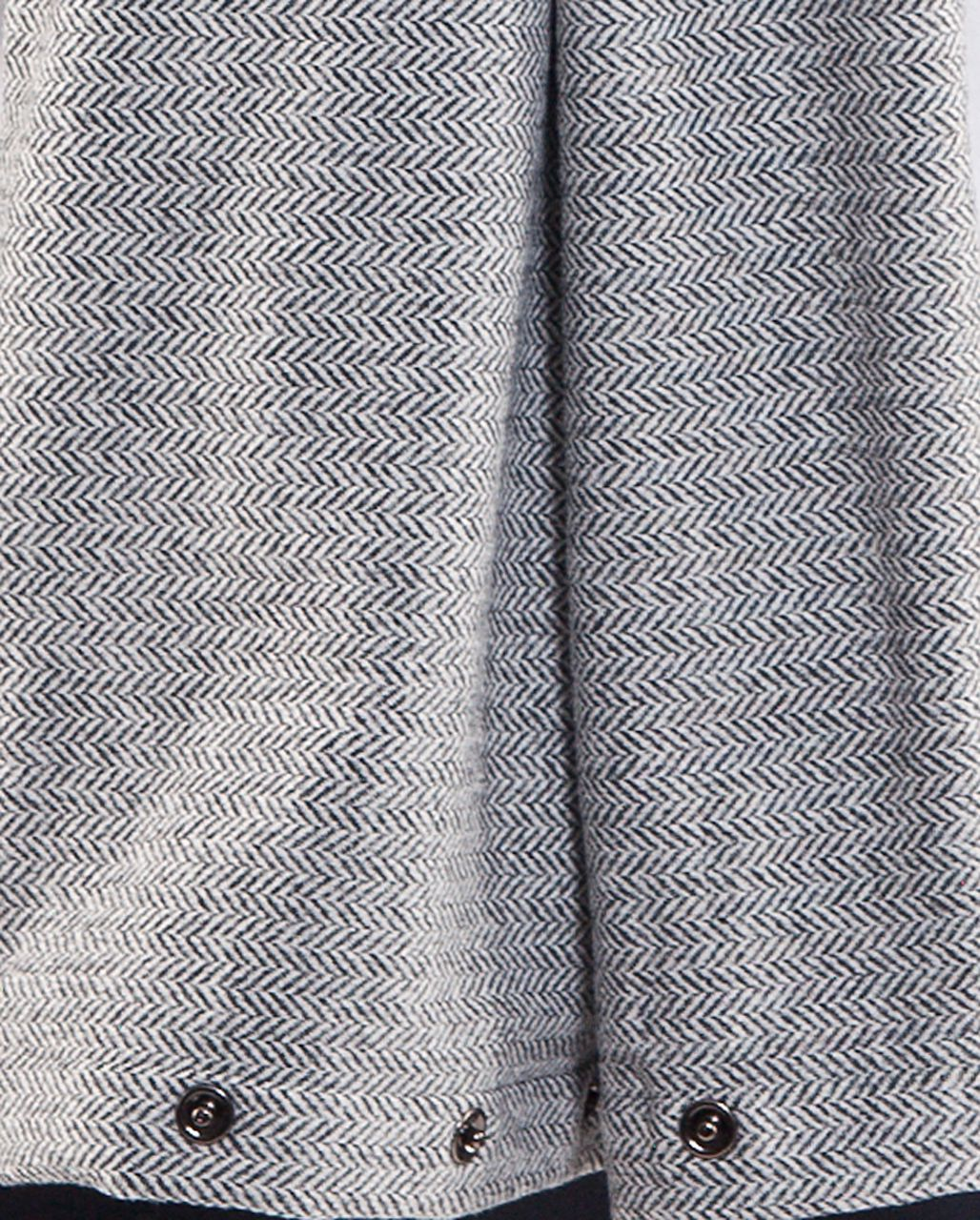 Lululemon Vinyasa Scarf - Heathered Deep Coal /  Ghost Herringbone