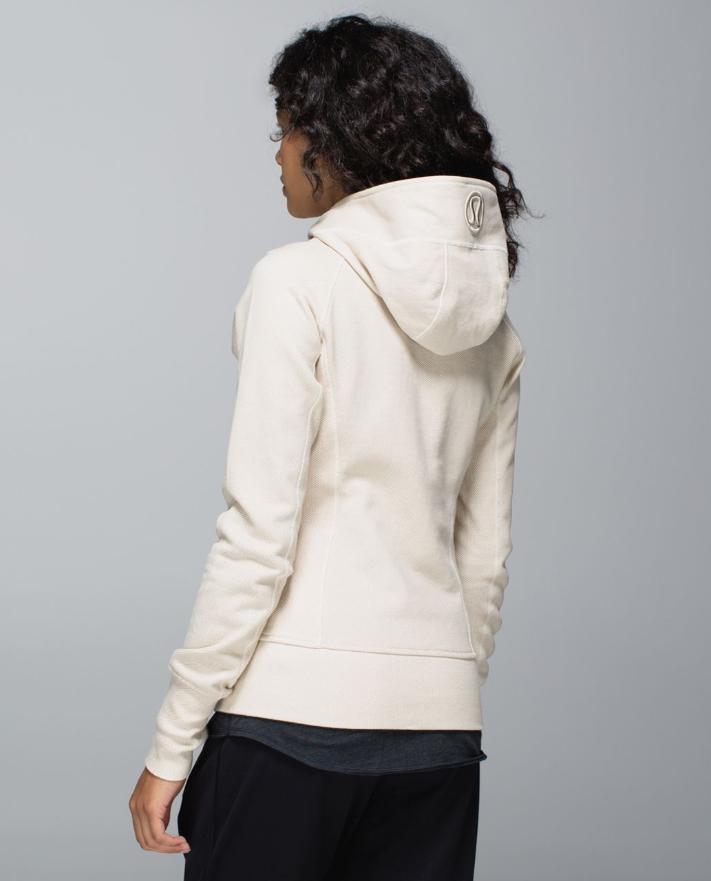 Lululemon Scuba Hoodie II - Telemark Print Angel Wing Mojave Tan / Angel Wing / Great Granite Black Mojave Tan