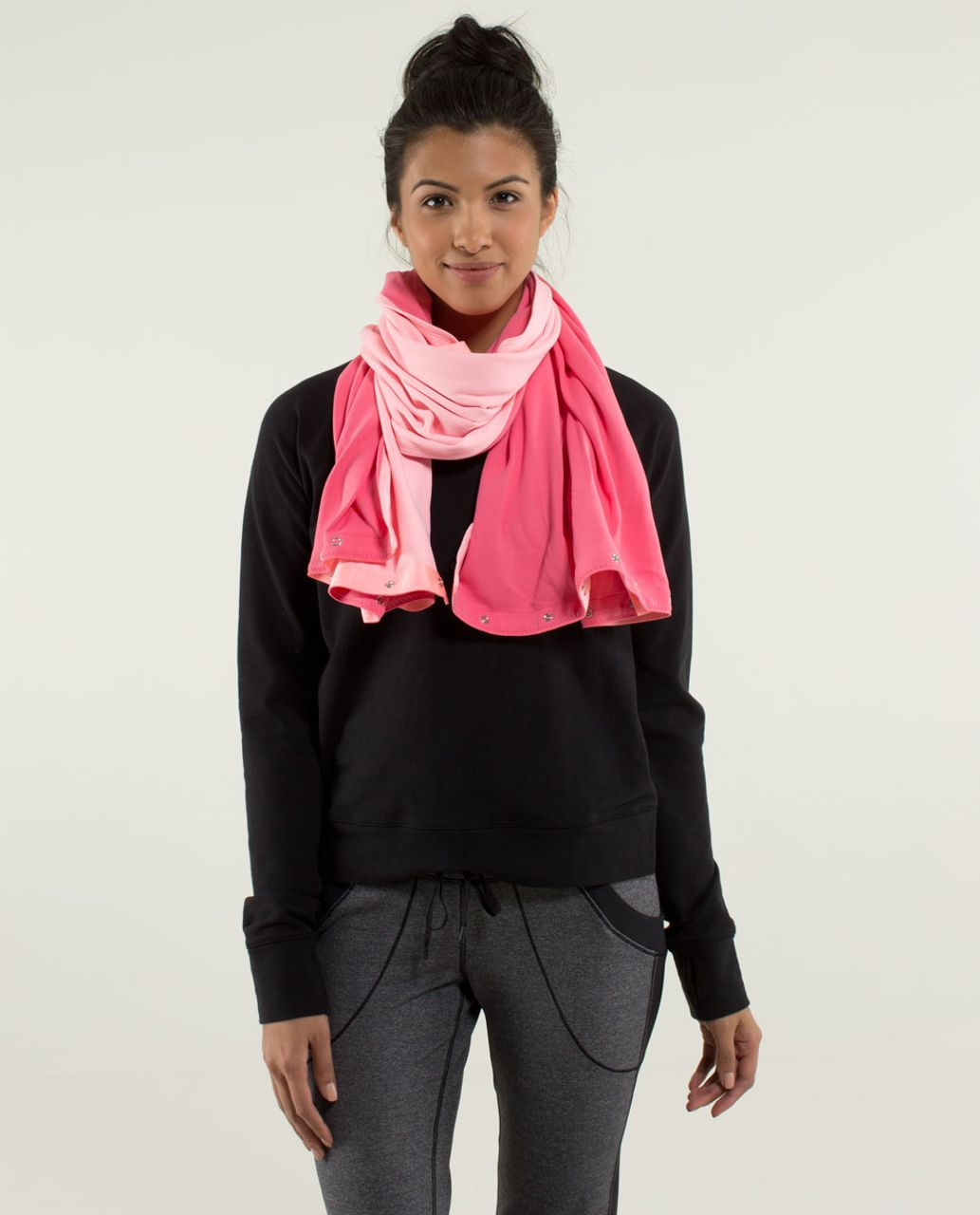 Lululemon Vinyasa Scarf *Rulu - Wee Stripe Bleached Coral Heathered Bleached Coral / Guava Lava