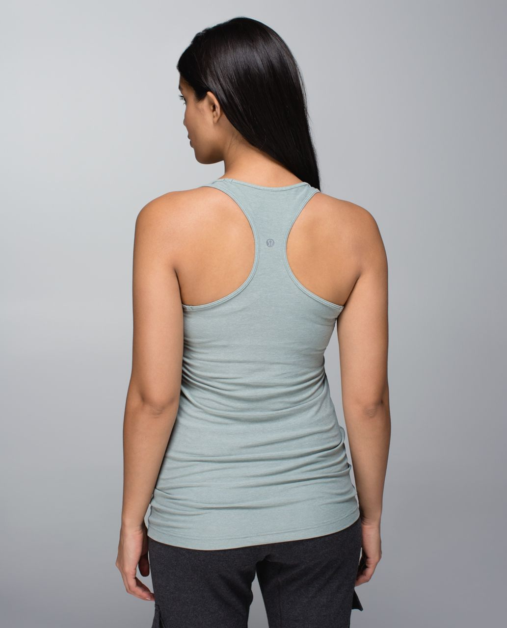 Lululemon Cool Racerback - Heathered Earl Grey