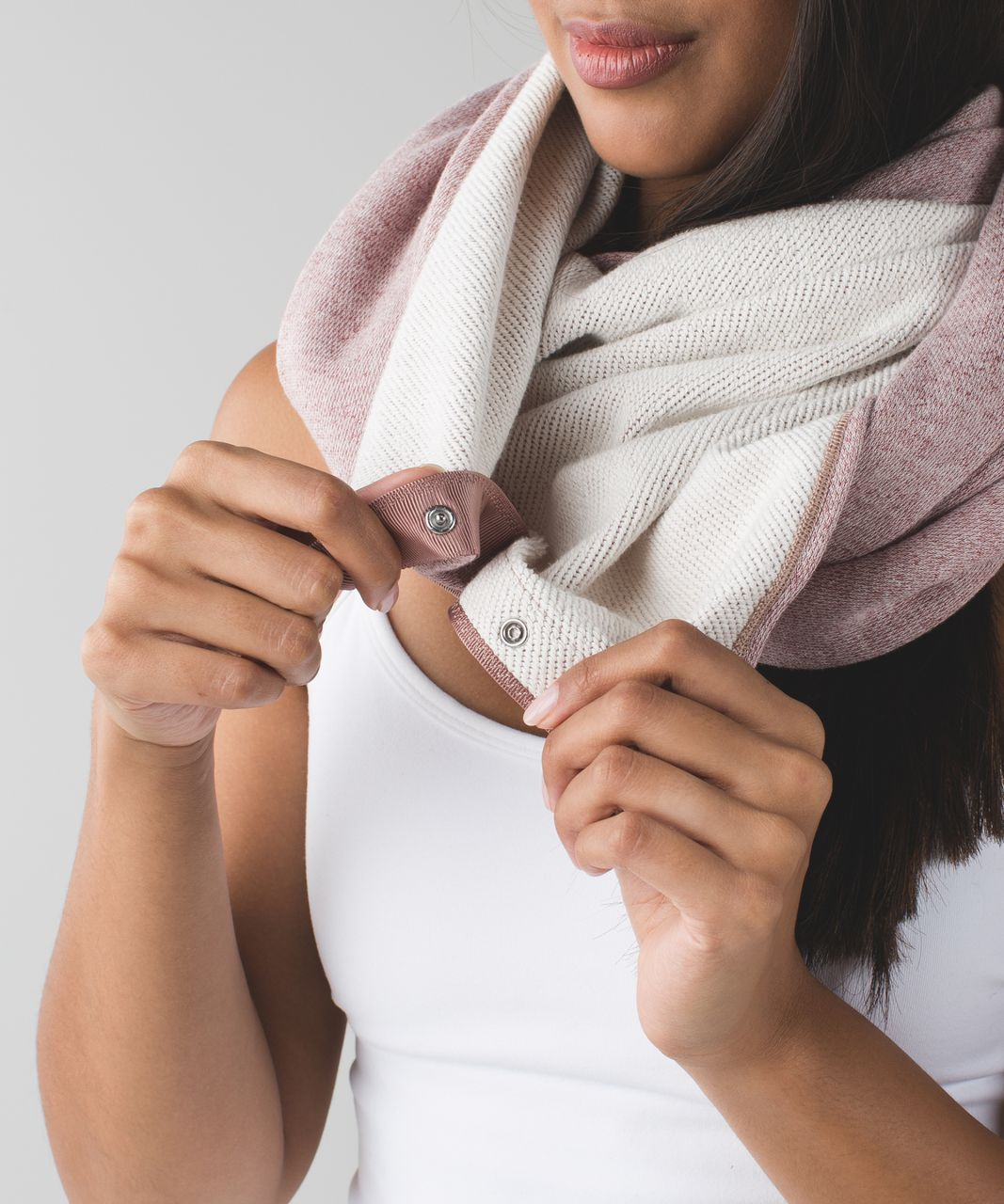 Lululemon Vinyasa Scarf *Cotton - Heathered Bark Berry