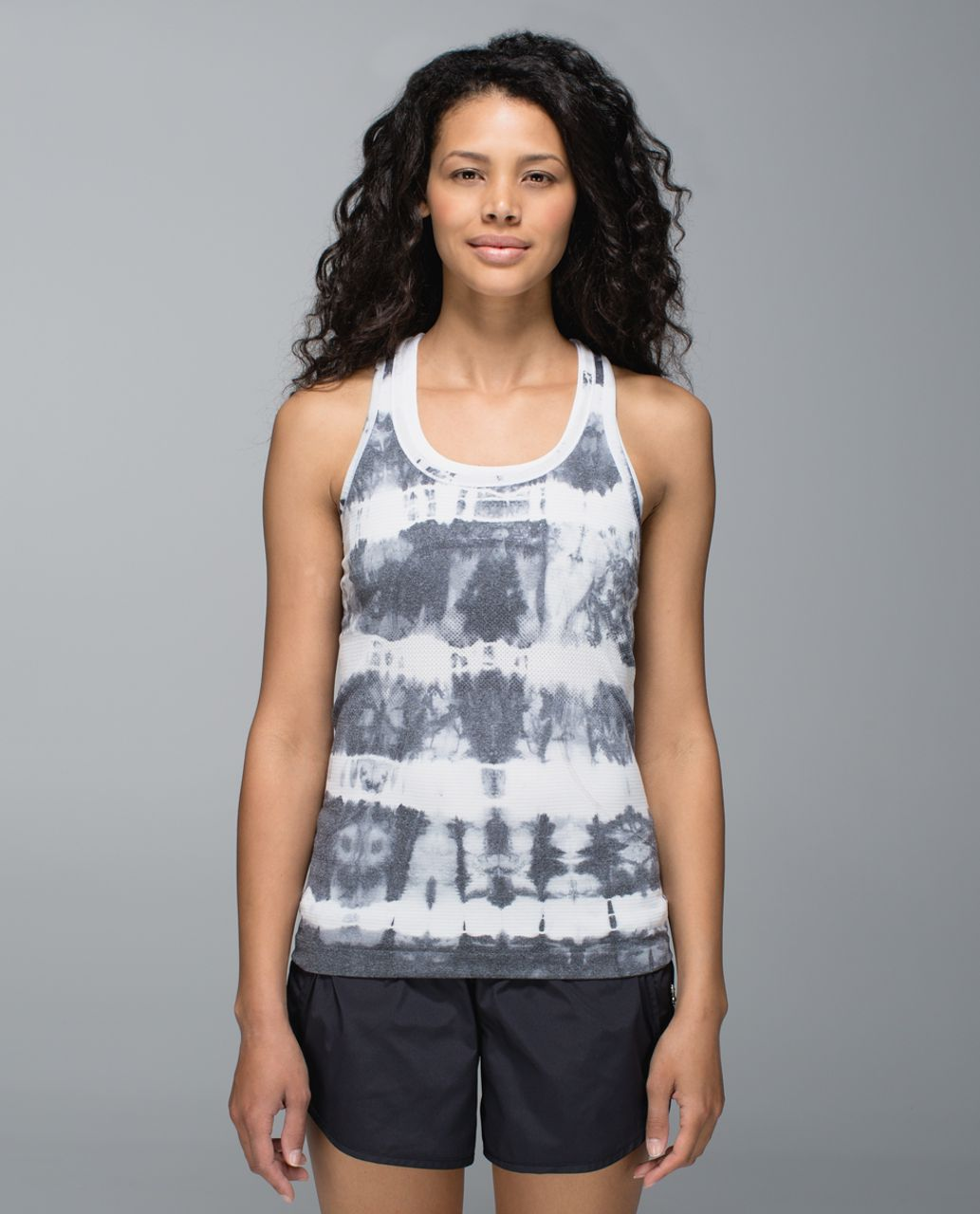 Lululemon Run:  Swiftly Racerback *Tie Dye - Heathered Black