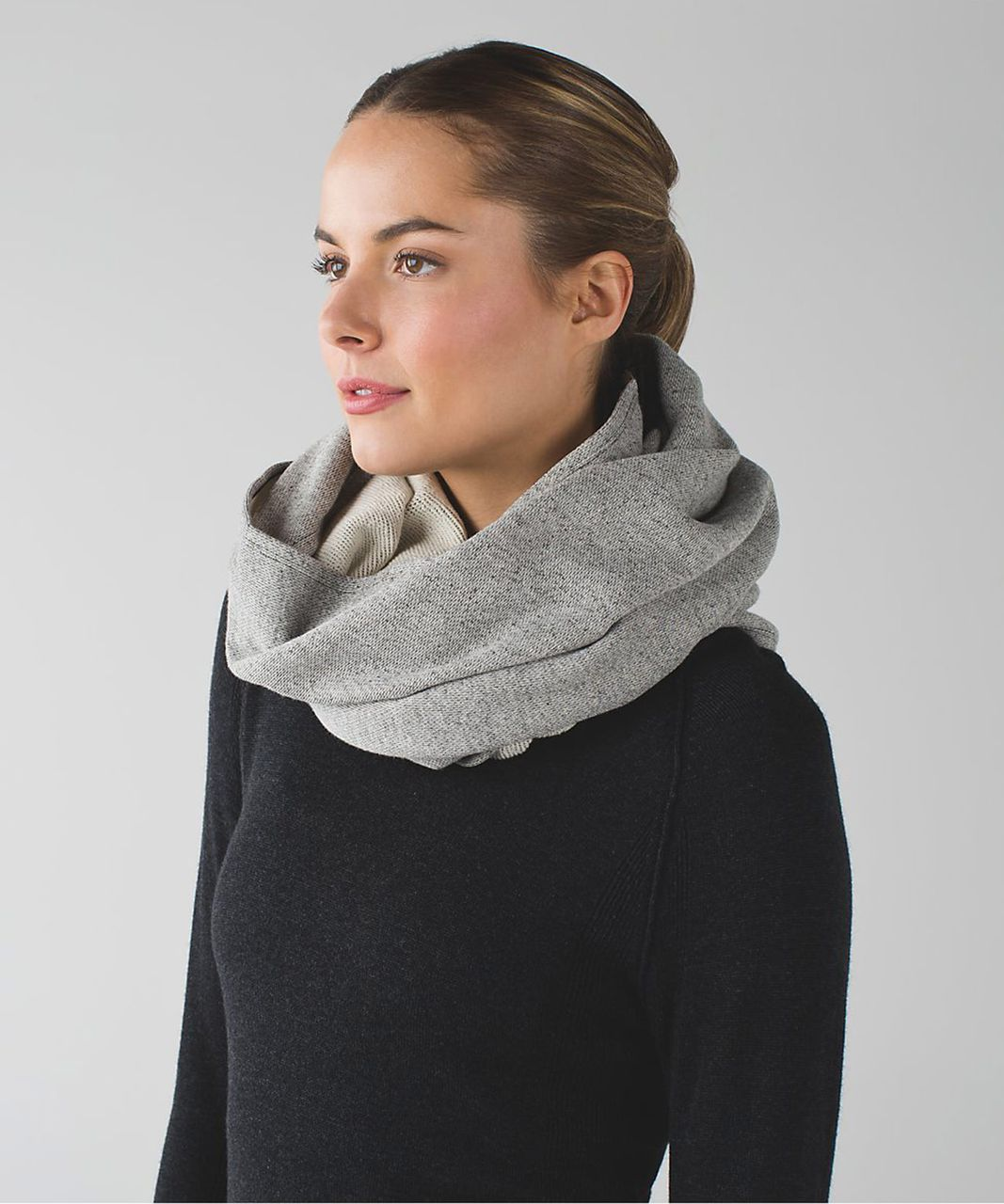 Lululemon Vinyasa Scarf *Cotton - Heathered Black