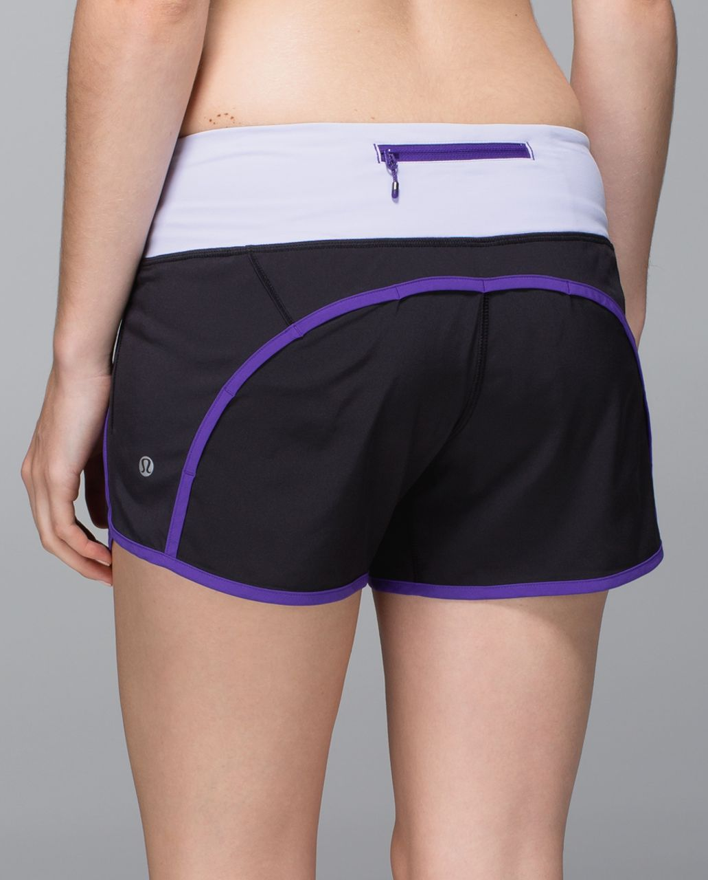 Lululemon Run Times Short *4-way stretch - Black / Bruised Berry / Cool Breeze