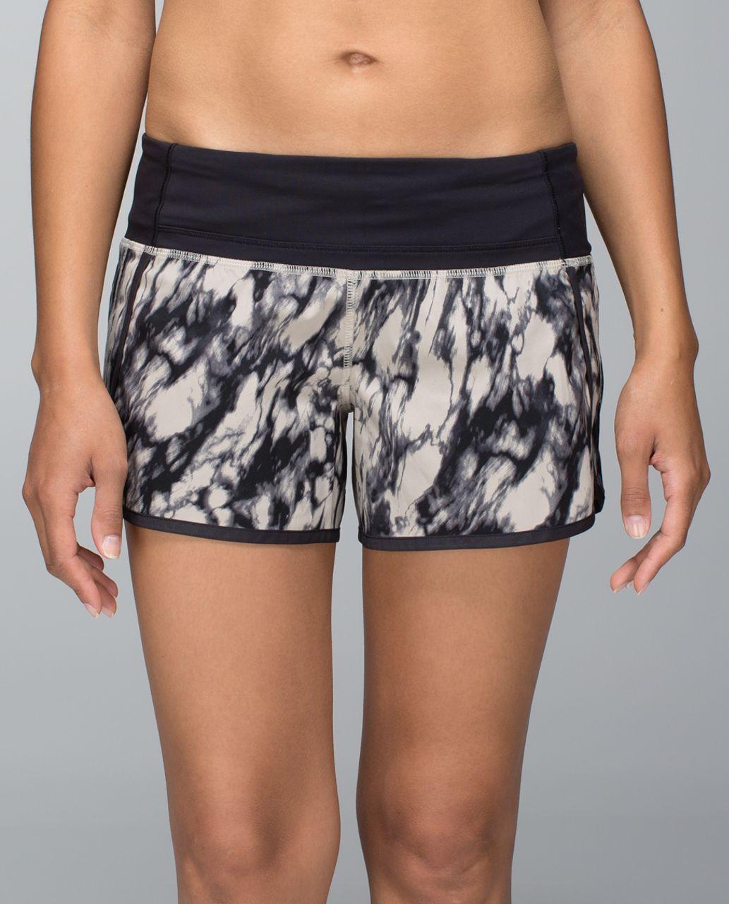 Lululemon Run Times Short *4-way stretch - Great Granite Black Mojave Tan / Black
