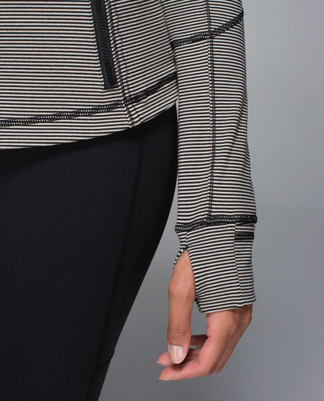 Lululemon Forme Jacket *Cuffins - Tonka Stripe Heathered Black Mojave Tan