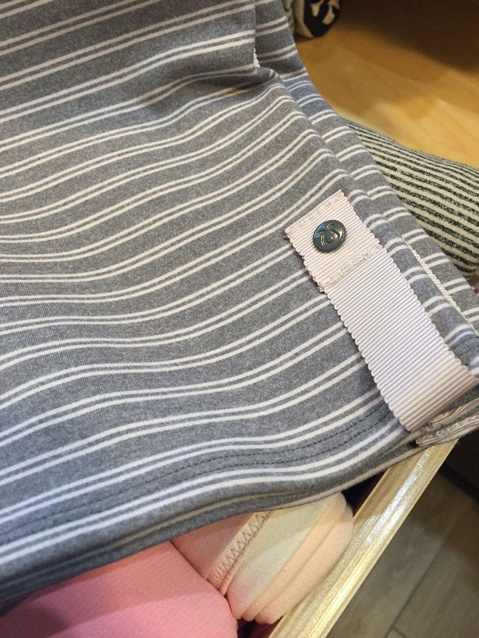 Lululemon Vinyasa Scarf *Rulu - Double Trouble Stripe Neutral Blush Heathered Slate / Heathered Slate