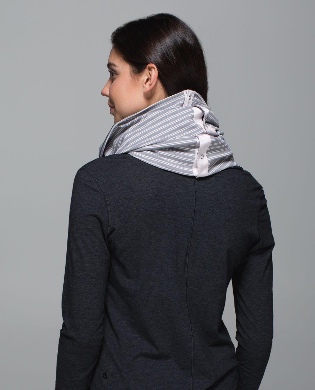 Lululemon Vinyasa Scarf *Rulu - Double Trouble Stripe Neutral Blush Heathered Slate / Heathered Slate