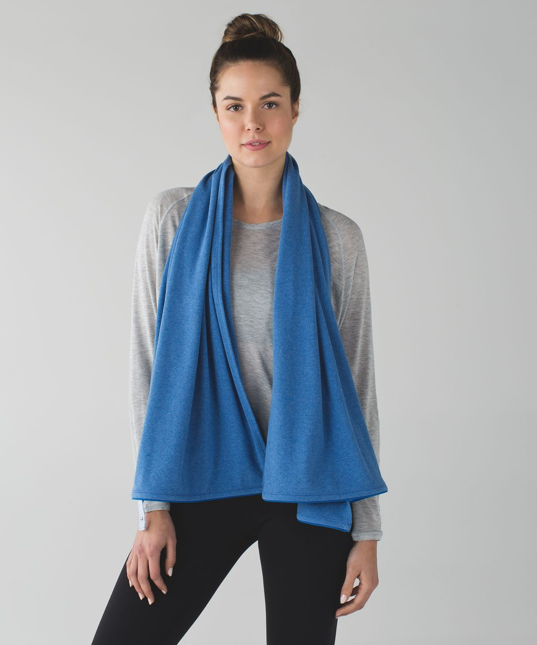 Lululemon Vinyasa Scarf *Ribbed - Heathered Lakeside Blue / Chalk
