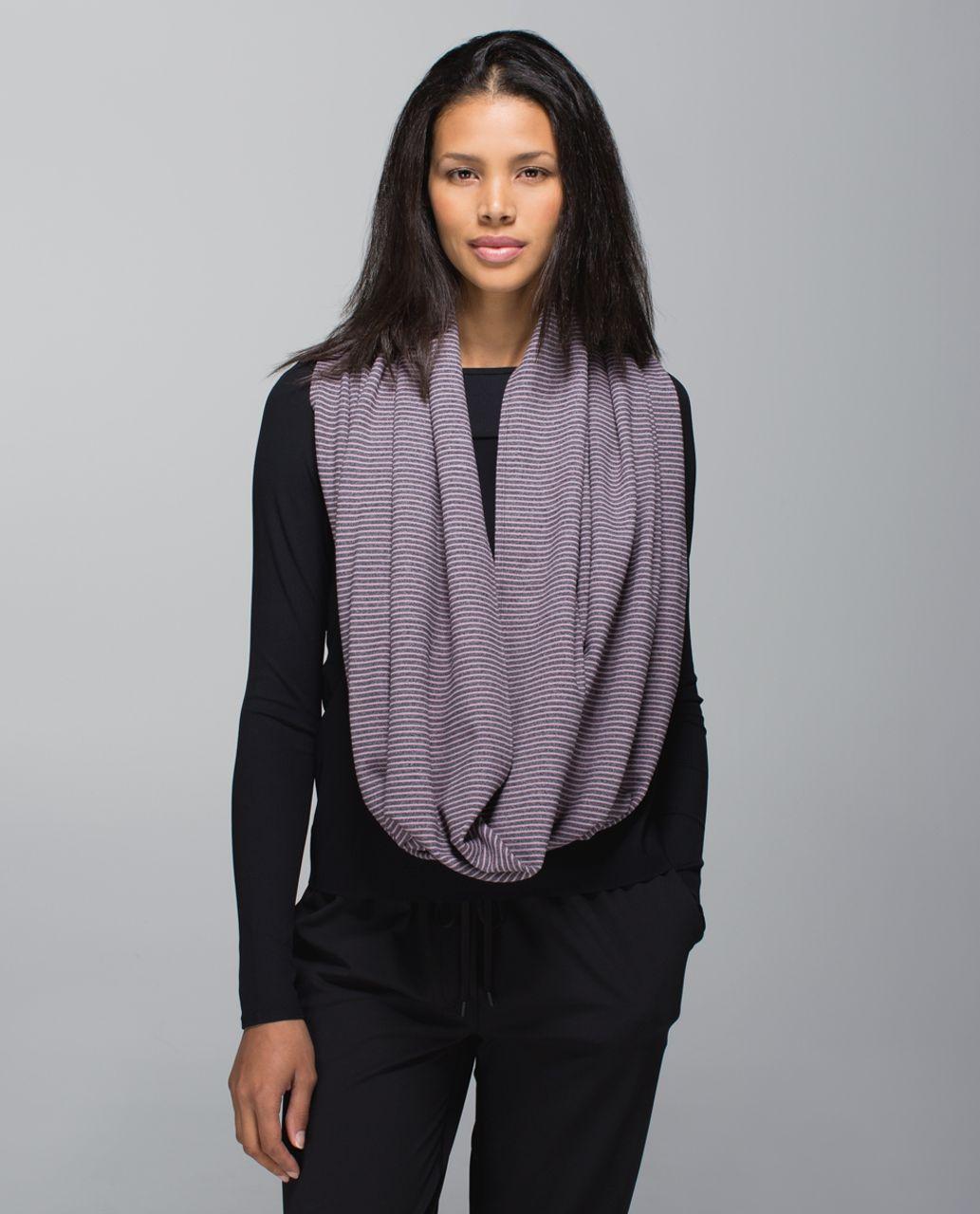 Lululemon Vinyasa Scarf *Rulu - Hyper Stripe Mauvelous Heathered Black / Heathered Black