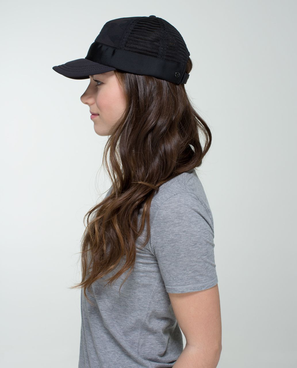 Lululemon WhatSUP Hat - Savasana Camo 20cm New Black / Black
