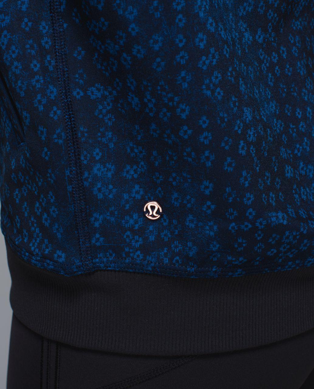 Lululemon H'Om Run Jacket - Kanoko Twist Inkwell Rugged Blue / Sashico Cross Inkwell Rugged Blue / Black