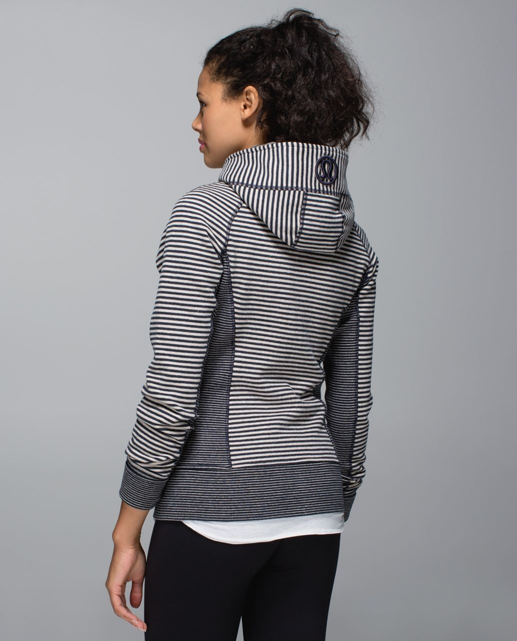 Lululemon Scuba Hoodie II - Maple Stripe Heathered Inkwell Heathered Mojave Tan / Vine Stripe Heathered Inkwell Heathered Mojave Tan