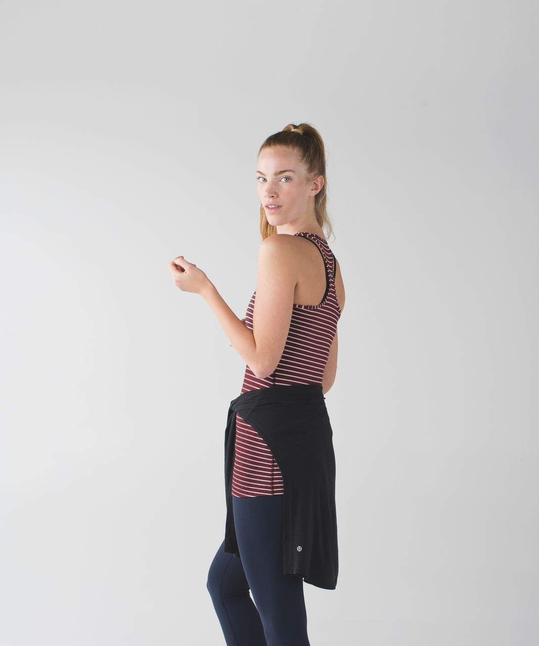 Lululemon Cool Racerback - West2east Stripe Heathered Bordeaux Drama