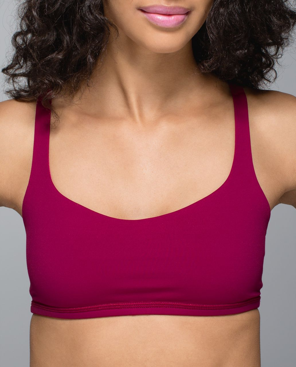 Lululemon Free To Be Bra - Bumble Berry / West2east Stripe Bumble Berry