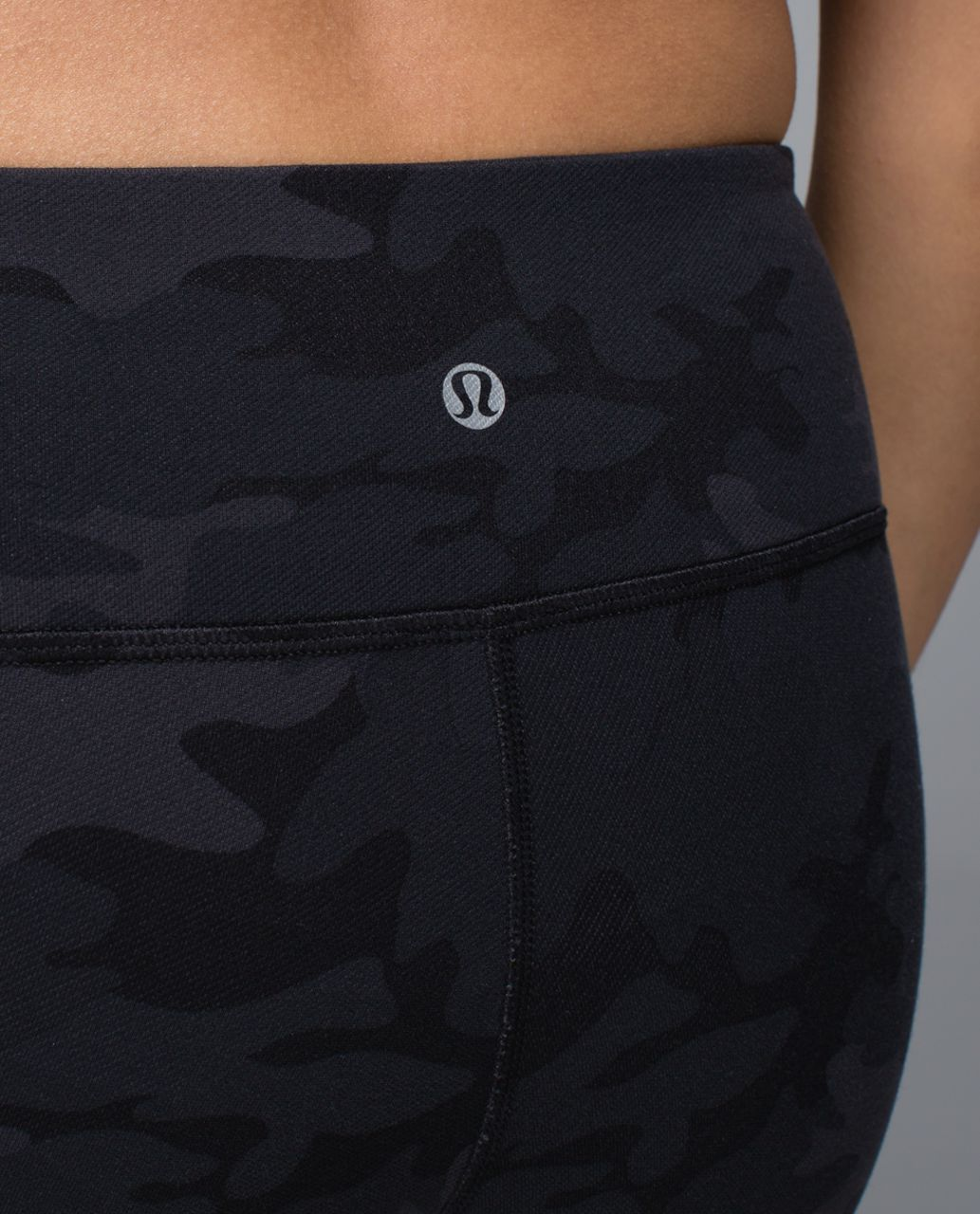 Lululemon Wunder Under Pant - Savasana Camo 20cm New Black / Soot / Black