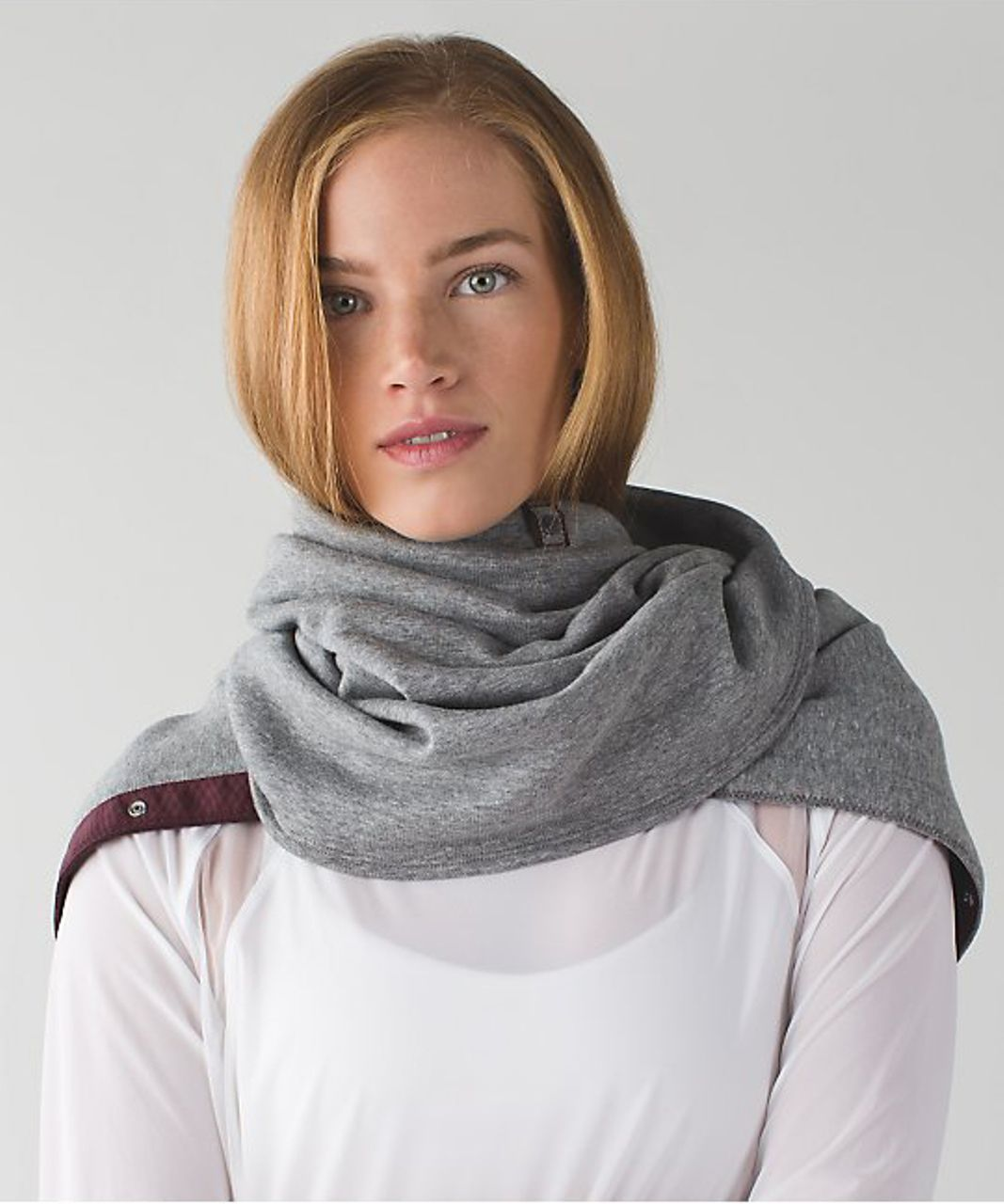 Lululemon Vinyasa Scarf *Velour - Heathered Slate / Bordeaux Drama