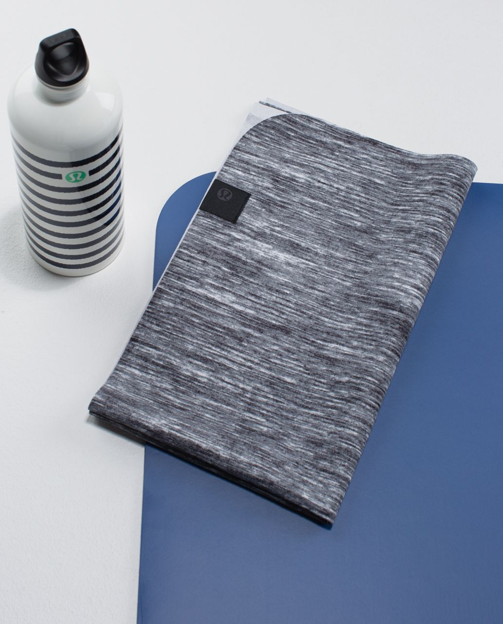 Lululemon The (Small) Towel *Printed - Oki Heathered Print Fossil Black