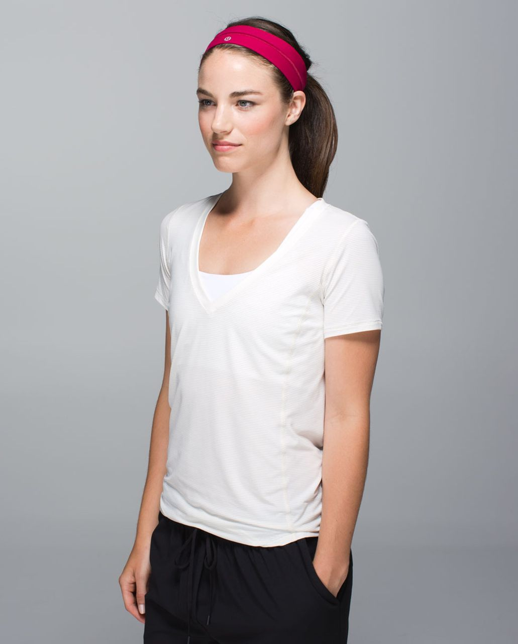 Lululemon Fly Away Tamer Headband - Bumble Berry