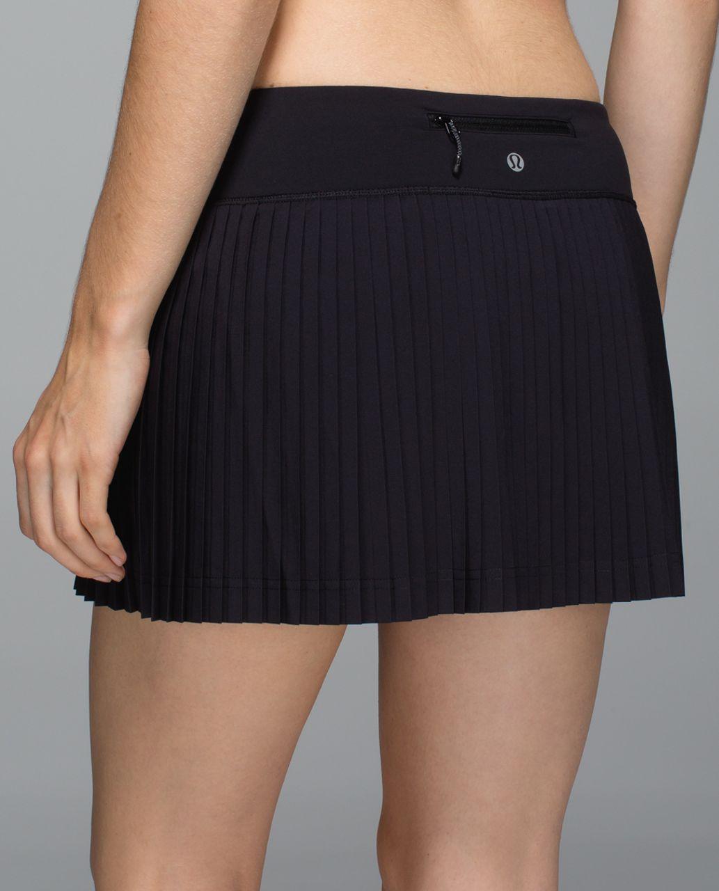 3440ec2cb8 Lululemon Pleat to Street Skirt - Black - lulu fanatics