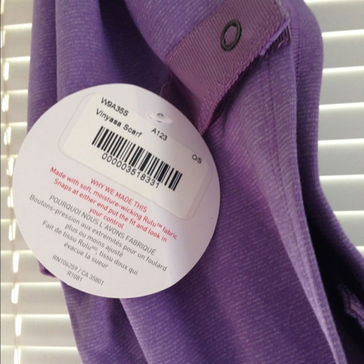 Lululemon Vinyasa Scarf *Rulu - Wee Stripe Winter Orchid Heathered Winter Orchid / Deep Zinfandel