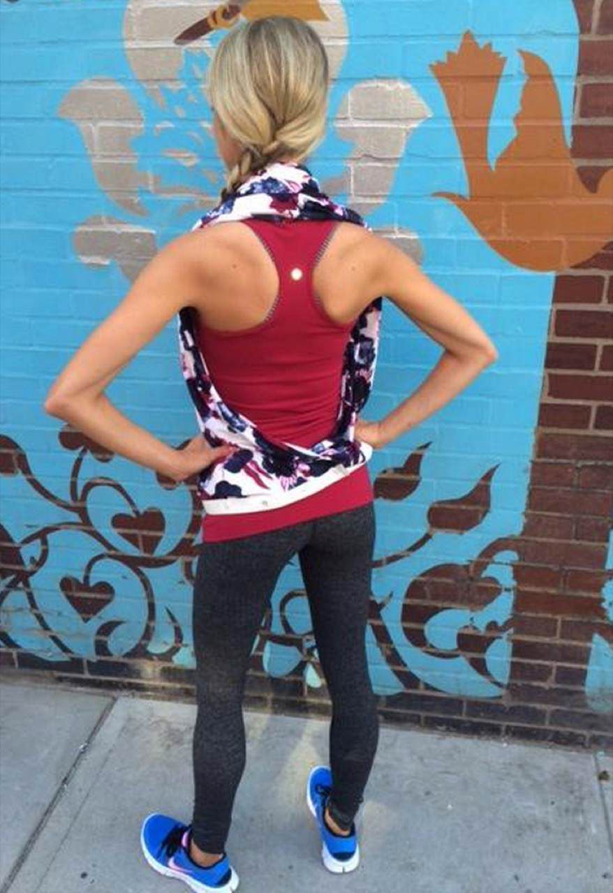 Lululemon Vinyasa Scarf *French Terry - Inky Floral Ghost Inkwell Bumble Berry
