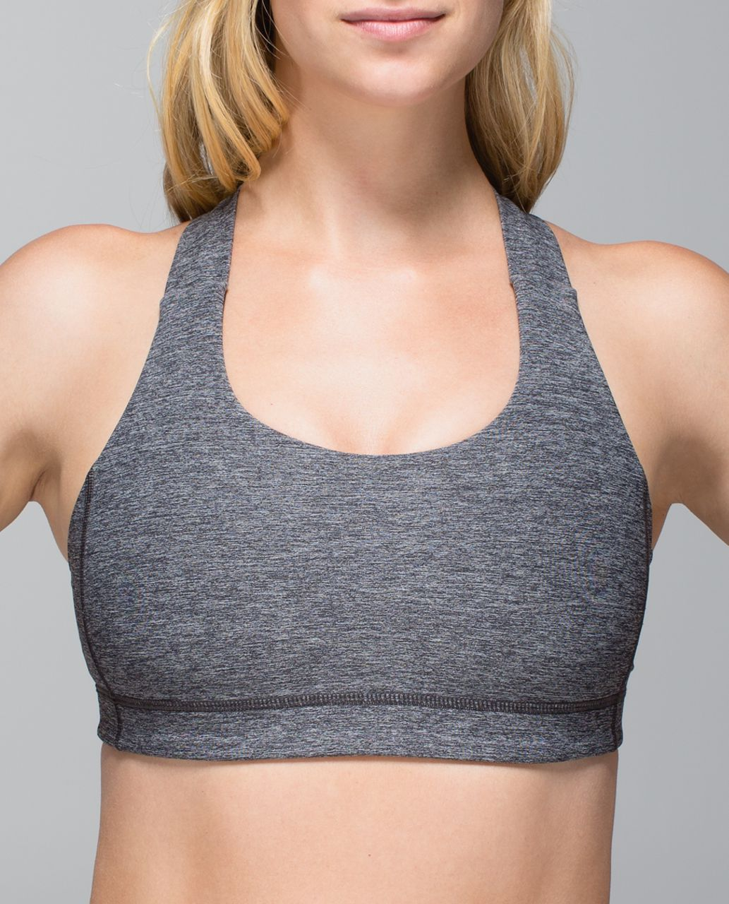 c24a675838 Lululemon All Sport Bra - Heathered Black - lulu fanatics