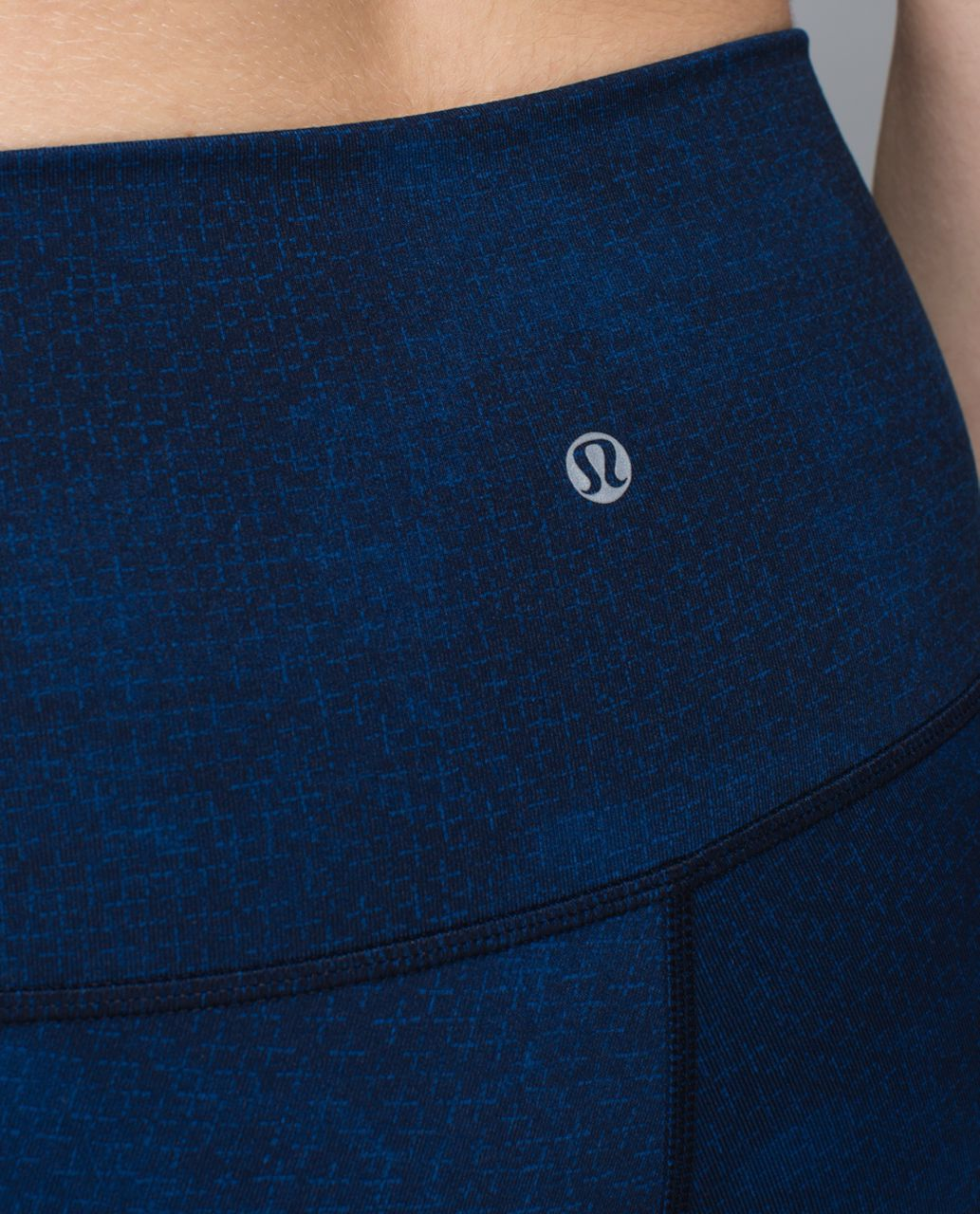 Lululemon Wunder Under Crop II *Print (Roll Down) - Sashico Cross Inkwell Rugged Blue