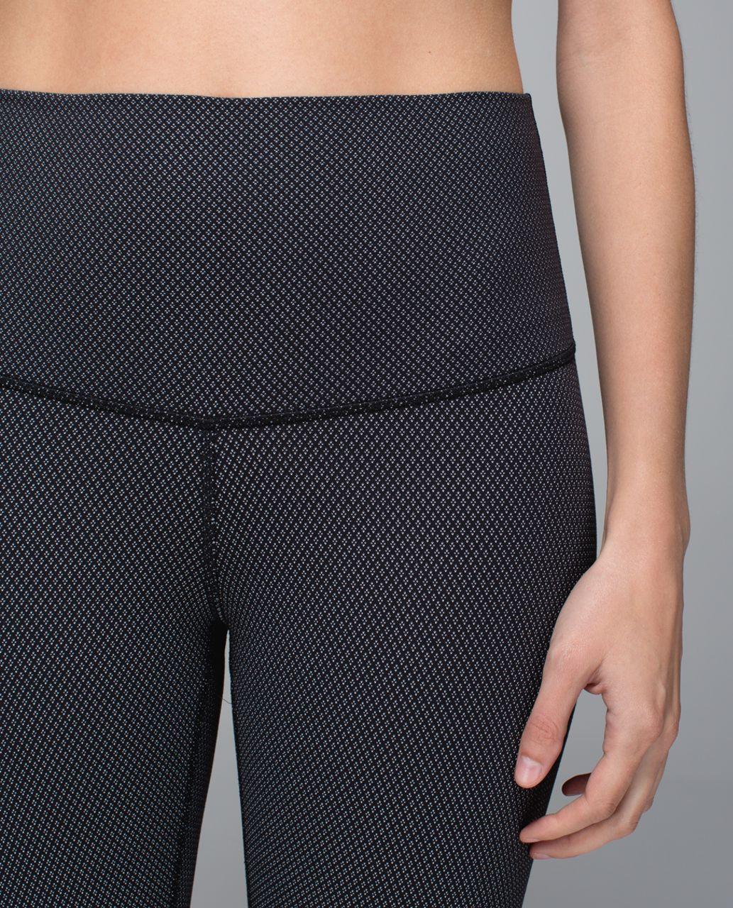 Lululemon Wunder Under Pant *Print (Roll Down) - Diamond Dot Black White