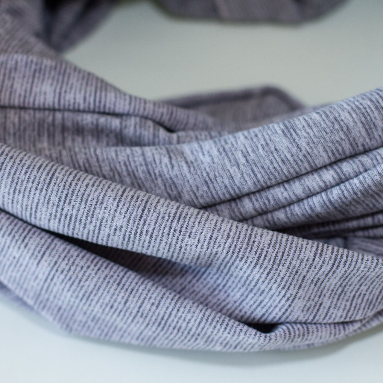 Lululemon Vinyasa Scarf - Lilac Heathered Coal Wee Stripe