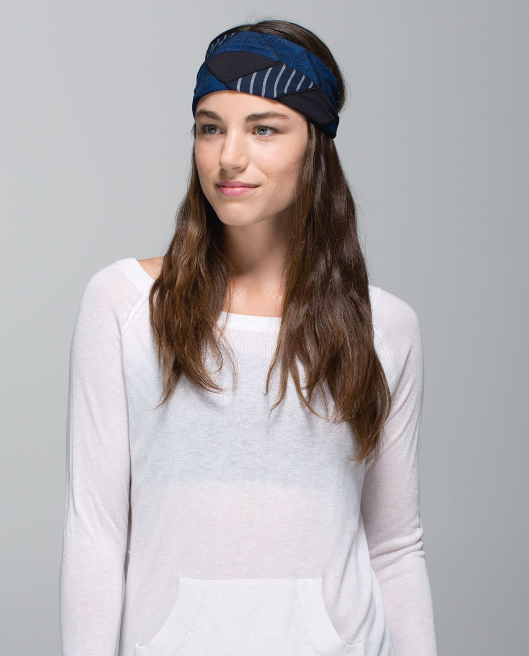 5b31c83e1b Lululemon Bang Buster Headband *Quilt - Black / Sashico Star Inkwell Rugged  Blue - lulu fanatics