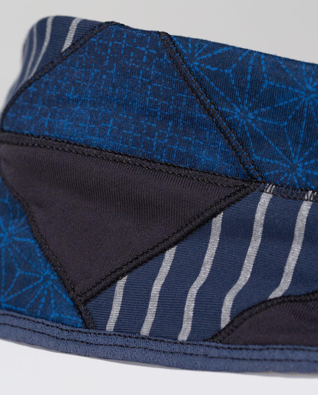 Lululemon Bang Buster Headband *Quilt - Black / Sashico Star Inkwell Rugged Blue