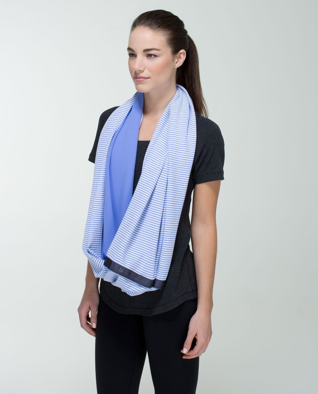 Lululemon Vinyasa Scarf *Rulu - Lullaby / 1/8 Stripe Heathered Lullaby White