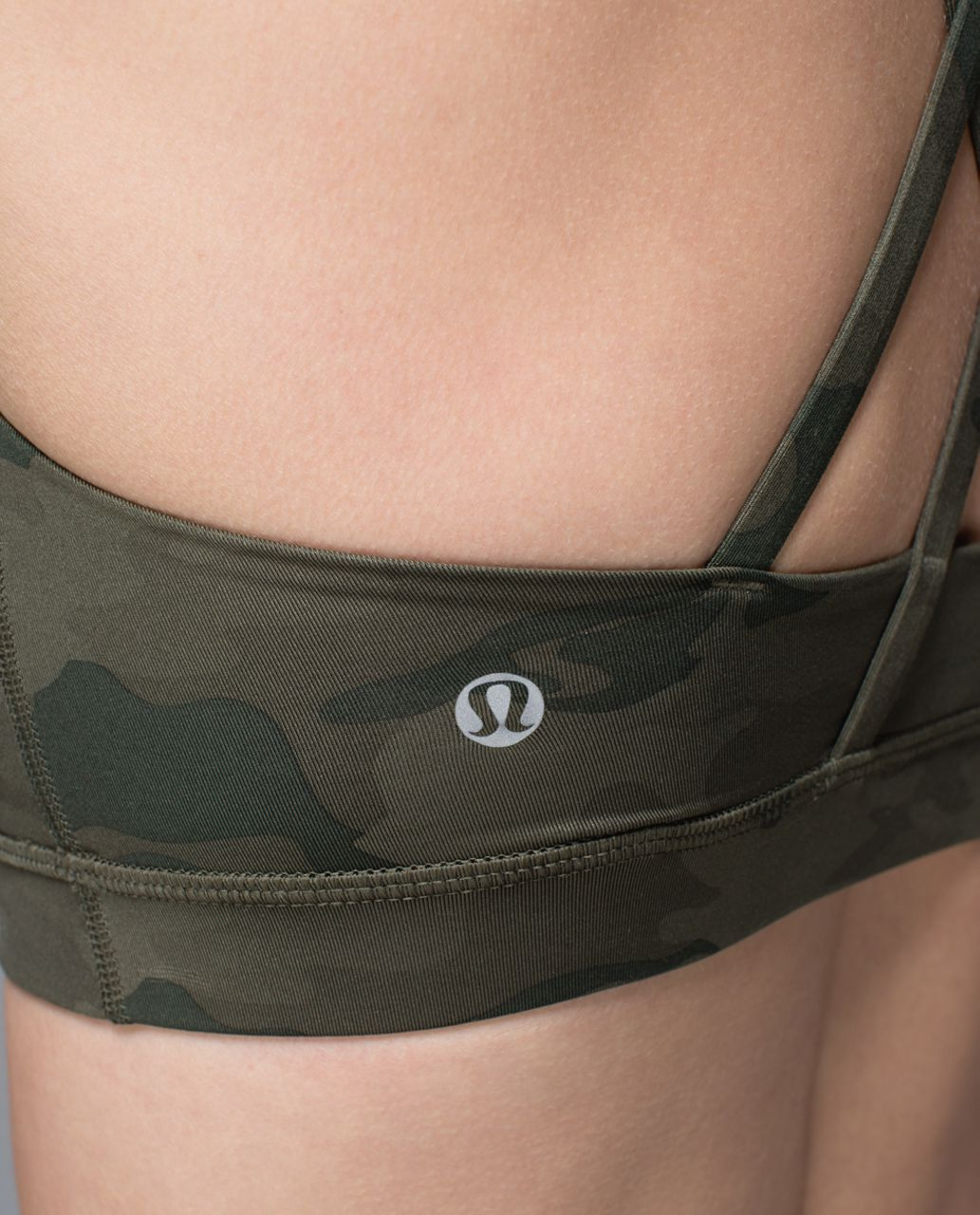 Lululemon Energy Bra - Savasana Camo 20cm Fatigue Green