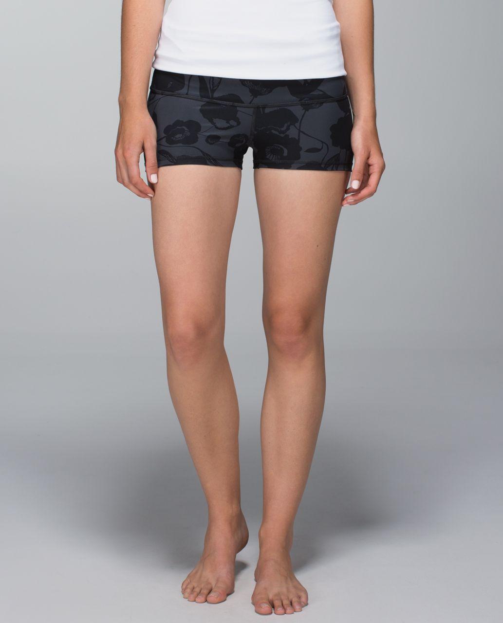 Lululemon Boogie Short *Full-On Luxtreme (Print) - Flat Inky Floral Printed Black Deep Coal / Black