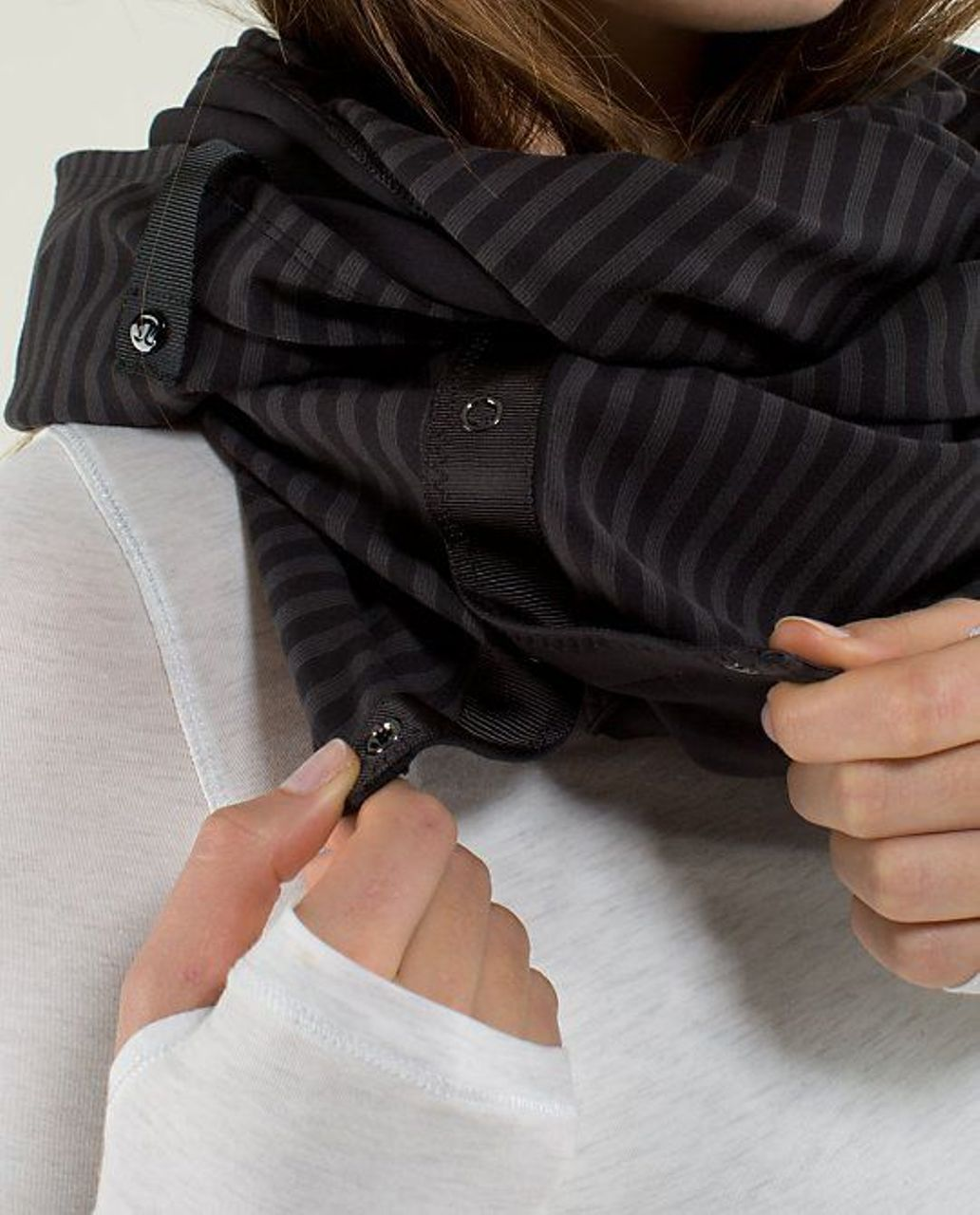 Lululemon Vinyasa Scarf *Rulu - Black / Half Micro Macro Black Soot