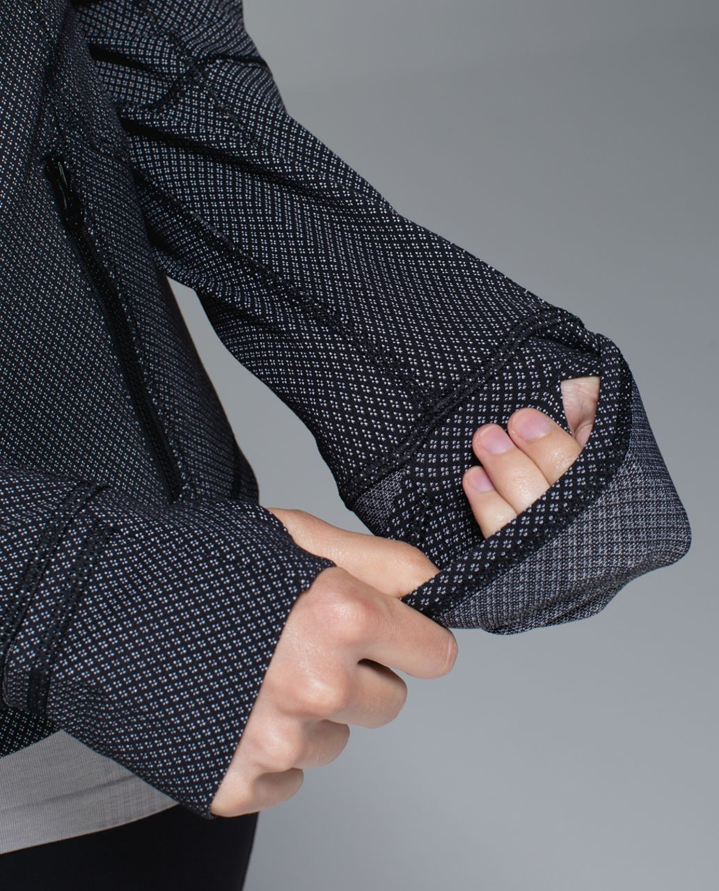 Lululemon Forme Jacket II *Textured - Diamond Dot Black White