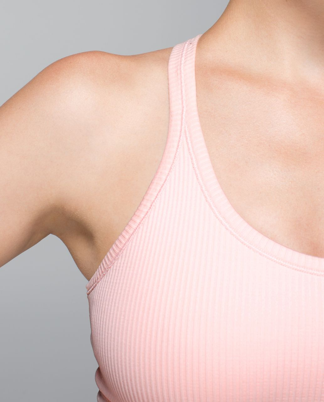 Lululemon Ebb To Street Tank - Heathered Parfait Pink