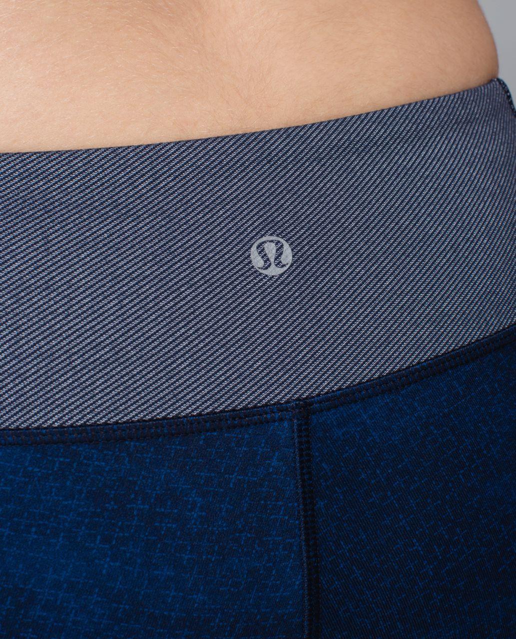 Lululemon Wunder Under Crop*Sashiko - Sashico Cross Inkwell Rugged Blue / Inkwell / Diamond Dot Inkwell Black
