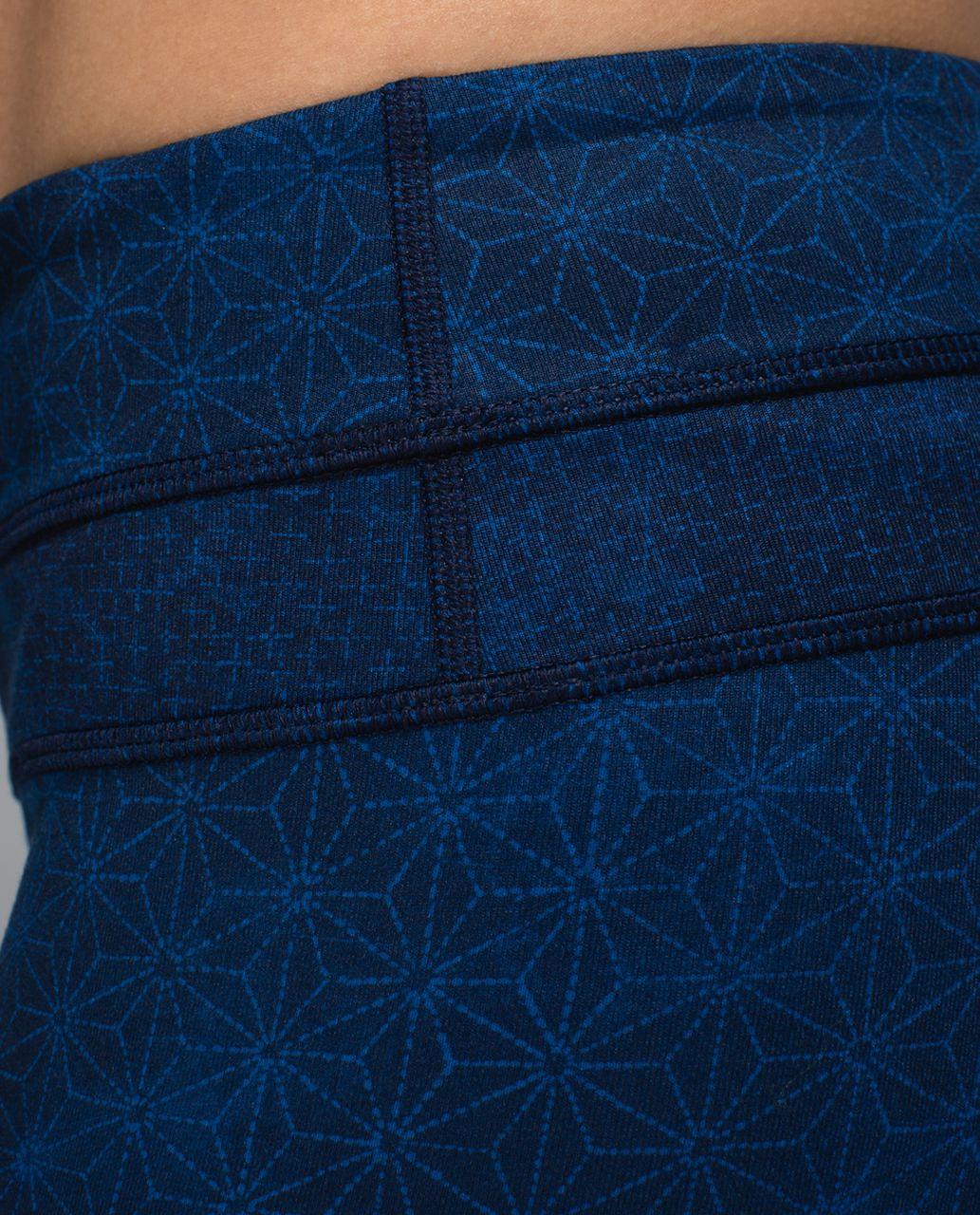 Lululemon Groove Short *Full-On Luon (Regular) - Sashico Star Inkwell Rugged Blue / Sashico Cross Inkwell Rugged Blue