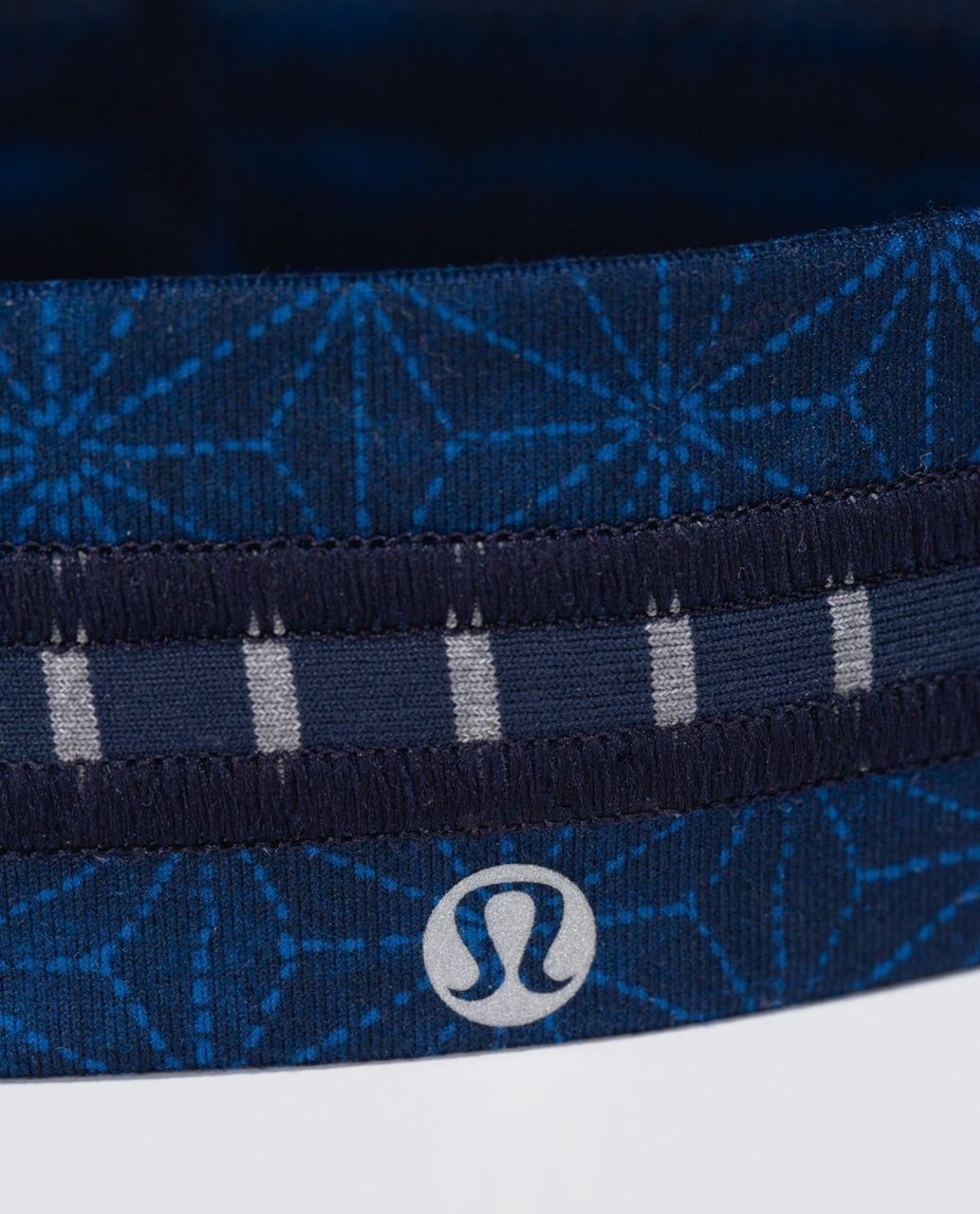 Lululemon Fly Away Tamer Headband *Quilt - Sashico Star Inkwell Rugged Blue / West2east Stripe Inkwell Heathered Slate