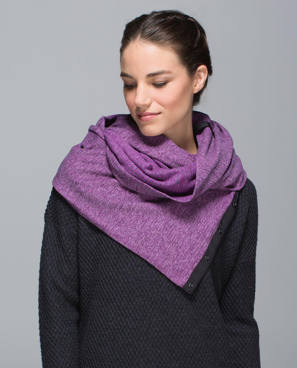 Lululemon Vinyasa Scarf *Rulu - Mini Check Pique Ultra Violet Heathered Black