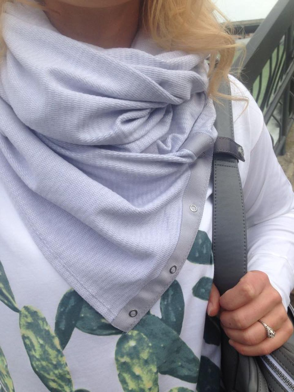 Lululemon Vinyasa Scarf - Mini Check Pique White Heathered
