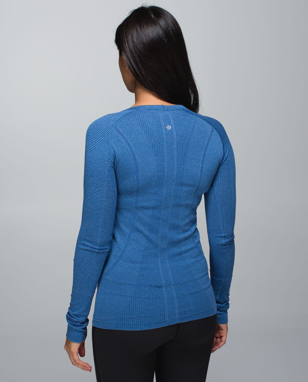 Lululemon Run:  Swiftly Tech Long Sleeve Crew - Tonka Stripe Heathered Blue Rugged Blue