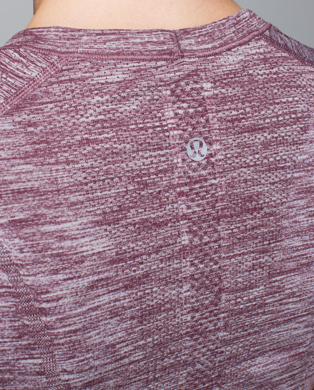 Lululemon Run:  Swiftly Tech Short Sleeve Crew - Space Dye Heathered Bordeaux Drama