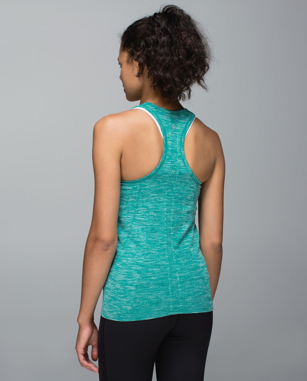 Lululemon Run:  Swiftly Tech Racerback - Space Dye Heathered Real Teal